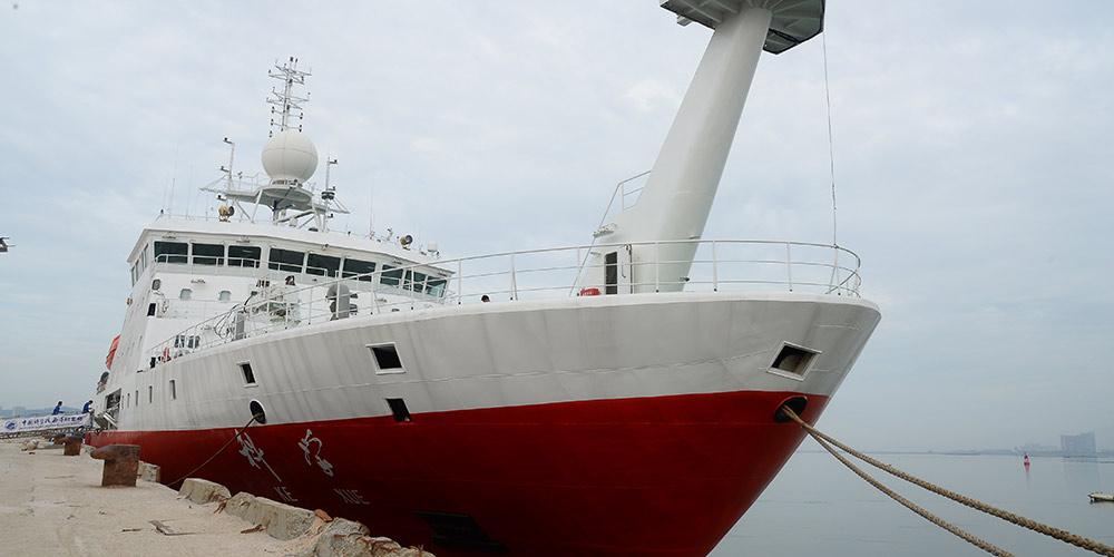 Navio de pesquisa chinês Kexue continua expedição no Mar do Sul da China