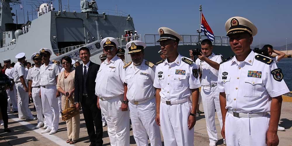 Frota naval chinesa chega a Grécia para visita amigável