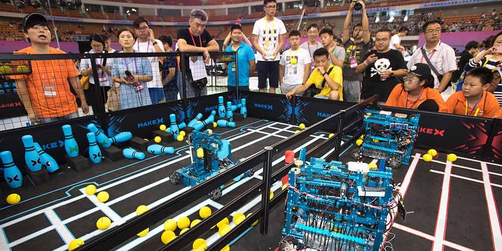 Final nacional da RoboCom Adolescence Challenge é realizada em Wuhan, no centro da China