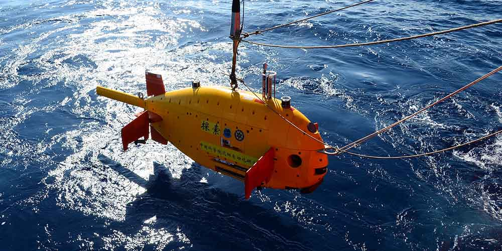 China testa robô submarino no Mar do Sul da China