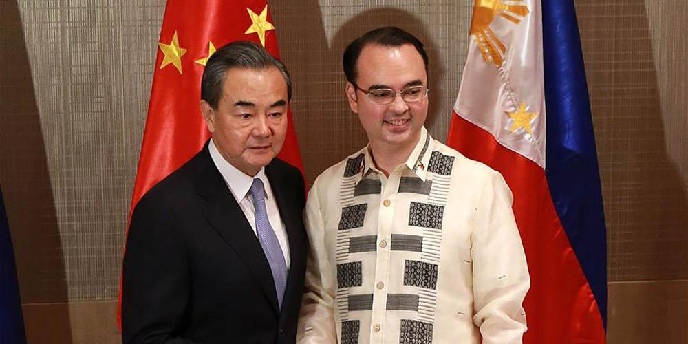 Chanceler chinês promete apoiar política exterior independente das Filipinas