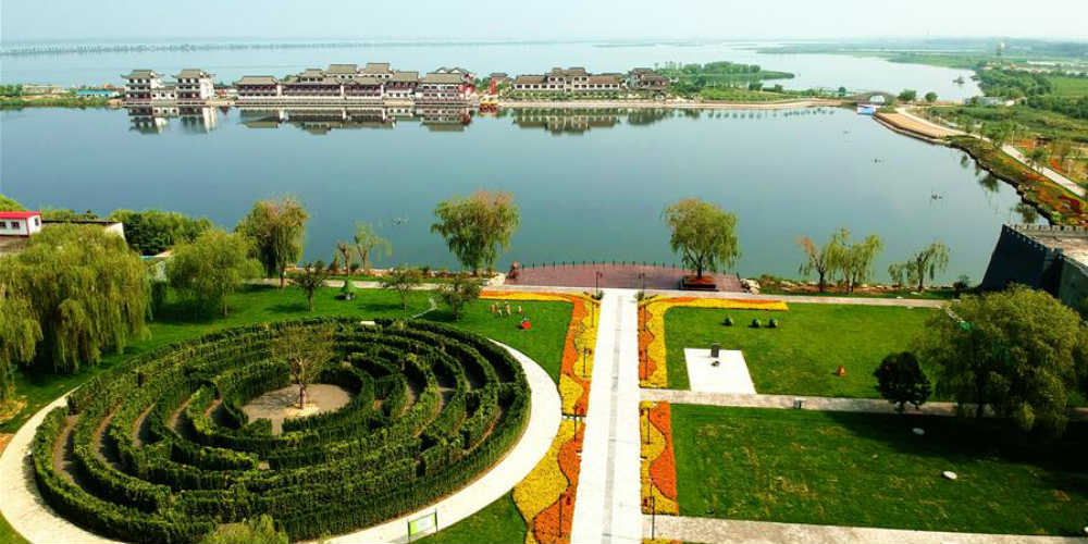 Parque Lakeside em Jizhou no norte da China