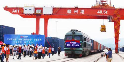 Trem de carga liga Polônia com Província de Jiangxi na China