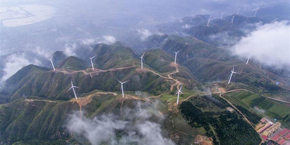 Paisagem da montanha Zhongtiao em Shanxi