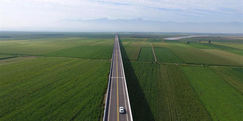 Nova rodovia ao longo do Rio Amarelo entra em funcionamento