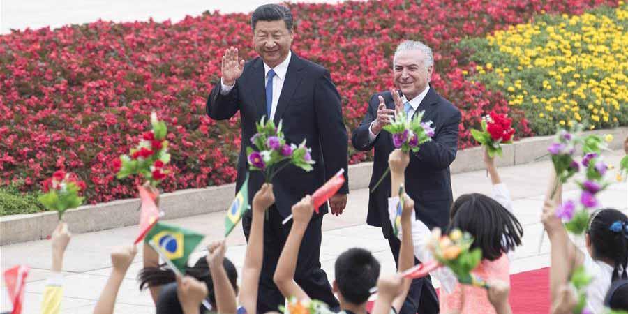 China e Brasil concordam em promover parceria estratégica abrangente