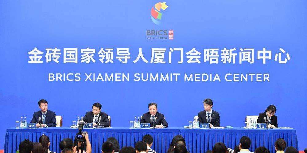 Conferência de imprensa do Comitê Organizador do Fórum de Negócios do BRICS 2017 é realizada em Xiamen