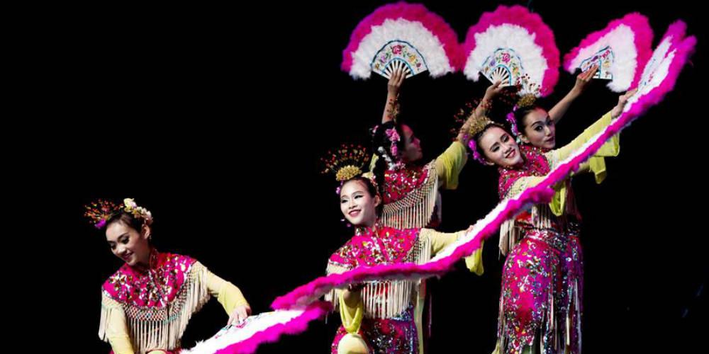 Atrizes de Taiwan se apresentam no Festival Internacional de Artes da Rota da Seda em Xi'an