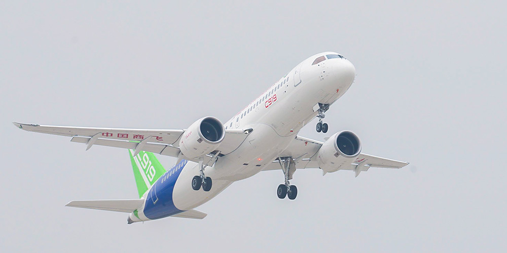 Avião chinês de grande porte C919 recebe novas encomendas