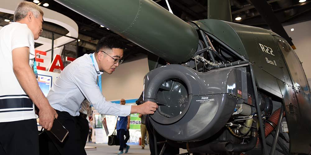 Expo da Aviação da China 2017 é realizada em Beijing