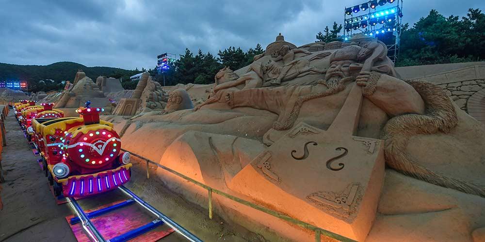 Festival Internacional de Esculturas de Areia de Zhoushan, no leste da China
