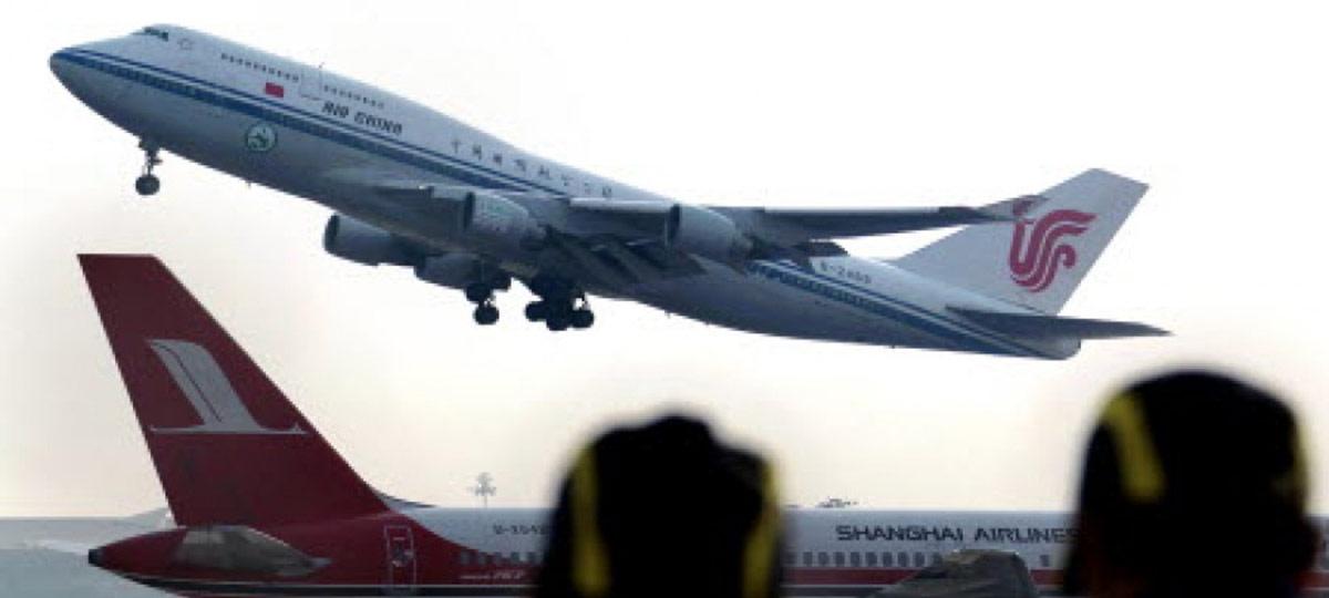 Aviação civil da China registra crescimento rápido em horas de voo