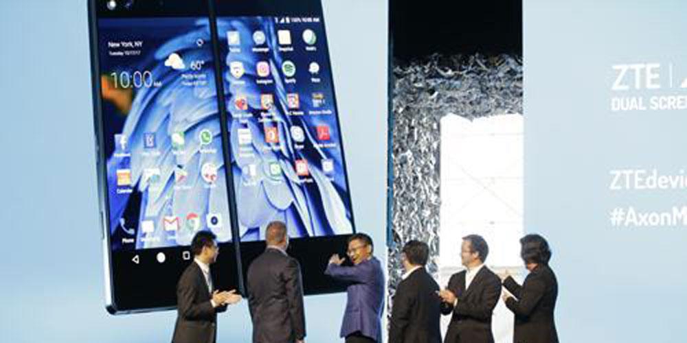 ZTE lança smartphone inovador dobrável nos EUA