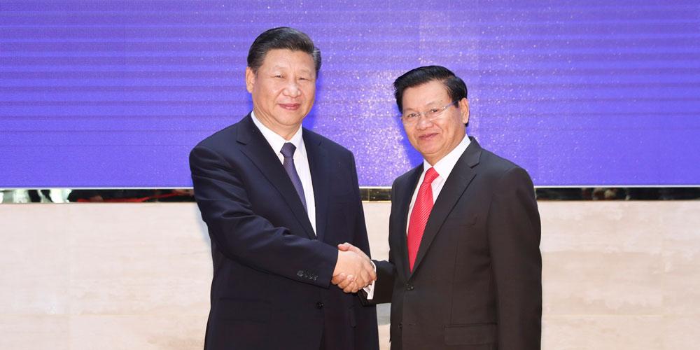 Presidente chinês discute relações com primeiro-ministro do Laos