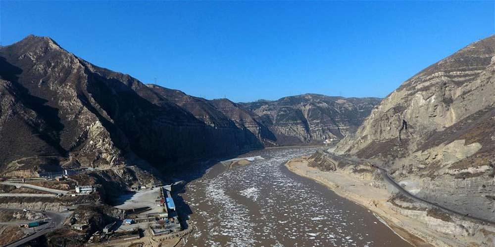 Gelo na seção de Longmen do Rio Amarelo