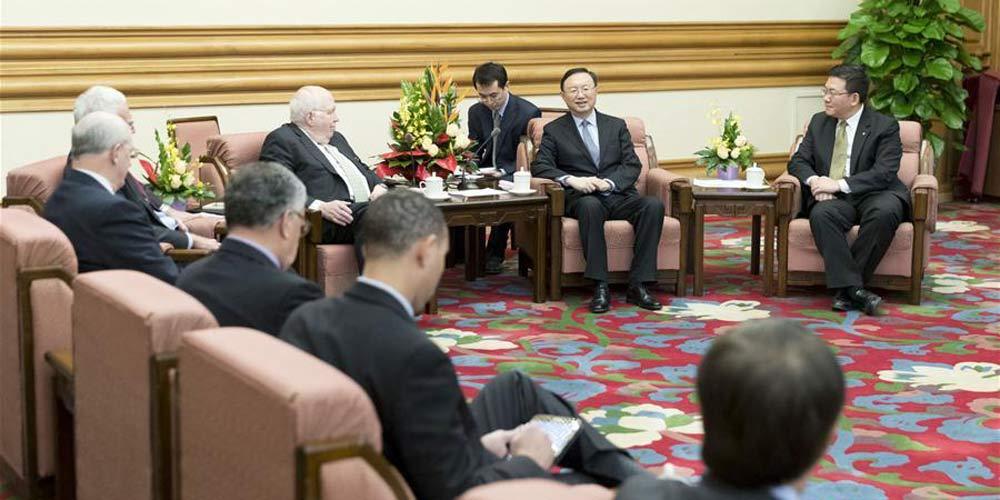 Conselheiro de Estado chinês reúne-se com delegação norte-americana