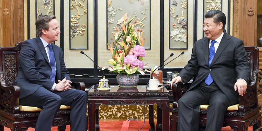 Xi pede que se aprofunde cooperação com Reino Unido sob Iniciativa do Cinturão e  Rota