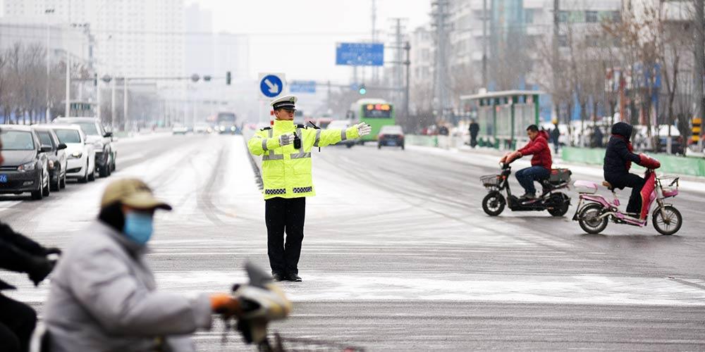 Várias partes de Beijing, Tianjin e Hebei recebem queda de neve