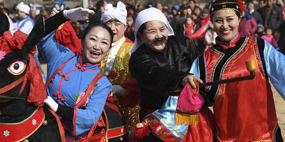 """""""Xiaonian"""" celebrado em Yulin, noroeste da China"""