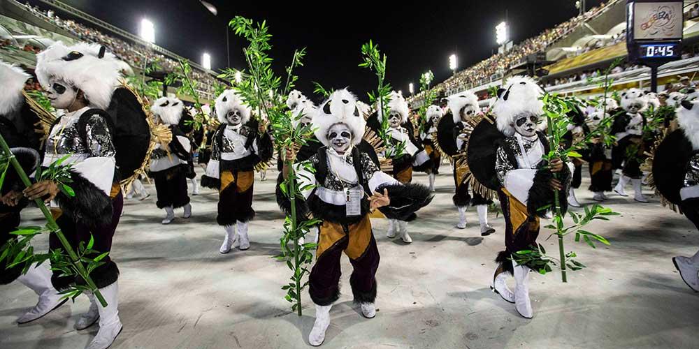Rota da Seda da China é destaque no desfile de Carnaval do Rio de Janeiro