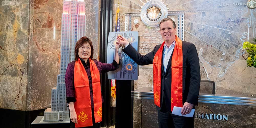 Empire State Bulding recebe iluminação especial em celebração ao Ano Novo lunar chinês