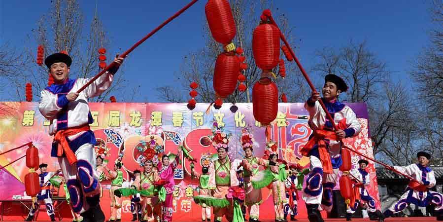 Feira do templo é realizada em Beijing, capital da China