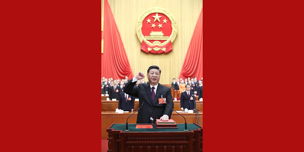 Presidente chinês recém-eleito presta juramento de lealdade à Constituição