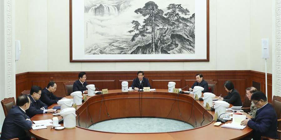 Altos legisladores chineses estudam pensamento de Xi sobre sistema de assembleia popular