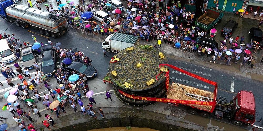 Galeria: Tambor gigantesco de bronze em Guangxi, sul da China