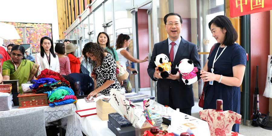 Bazar de caridade internacional anual realizado na ONU em Nova York
