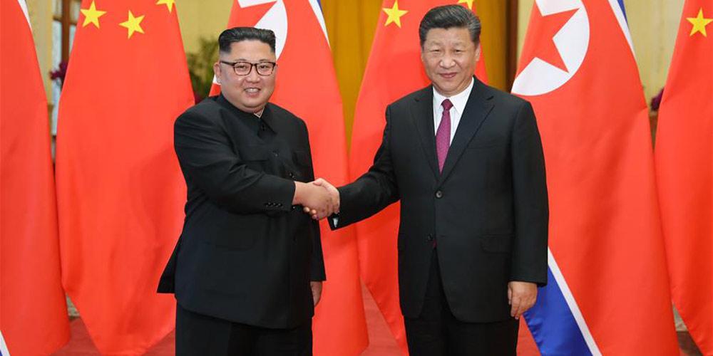 Xi Jinping e Kim Jong Un realizam conversações em Beijing
