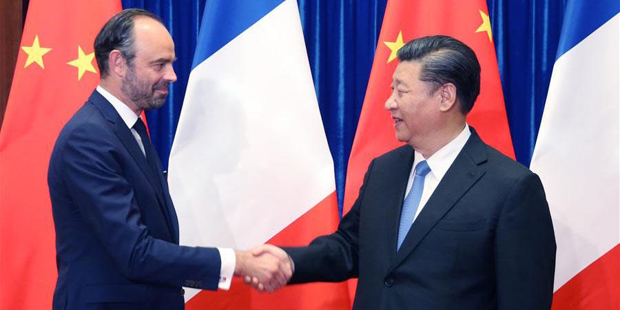 Presidente chinês se reúne com premiê francês