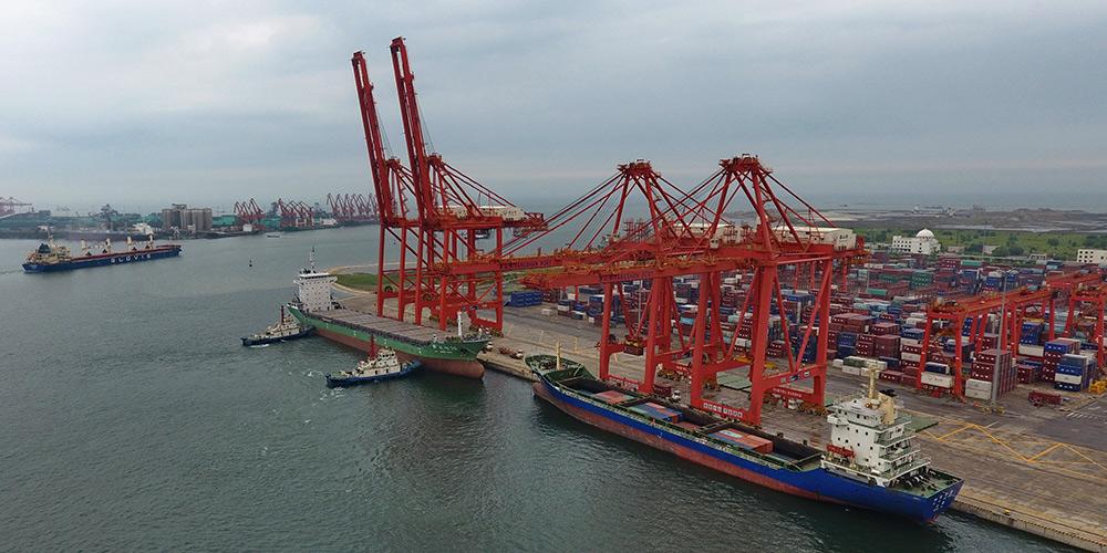 Movimentação do porto de Tangshan atinge 303 milhões de toneladas na primeira metade de 2018