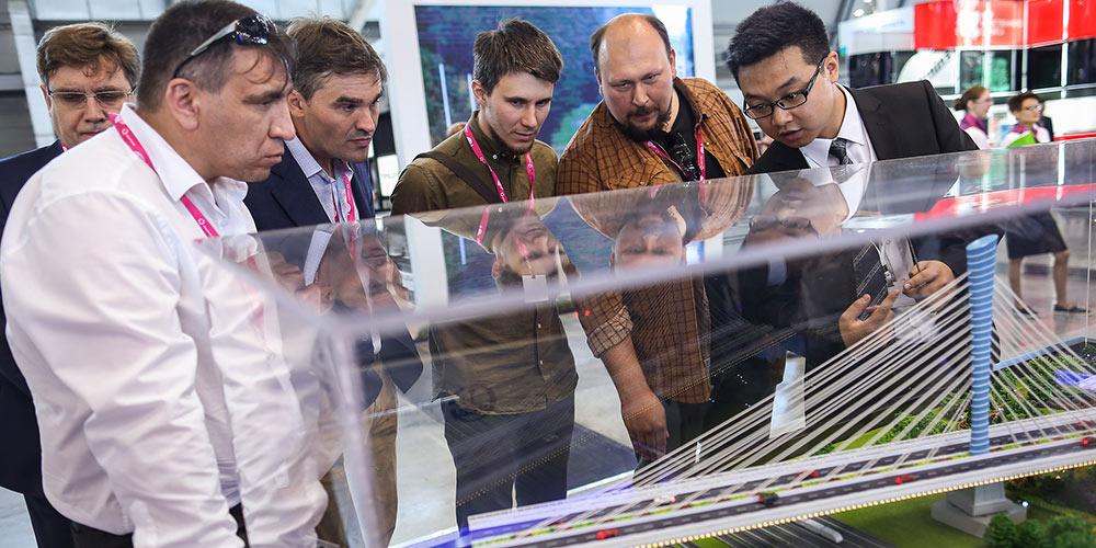 Expo Rússia-China realizada na Exposição Innoprom 2018 na Rússia