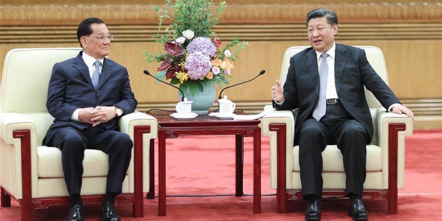 Xi Jinping se encontra com delegação de Taiwan liderada por Lien Chan