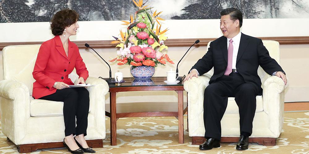 Presidente chinês se encontra com a diretora-geral da UNESCO