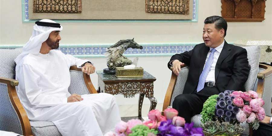 Presidente chinês se reúne com príncipe da coroa de Abu Dhabi
