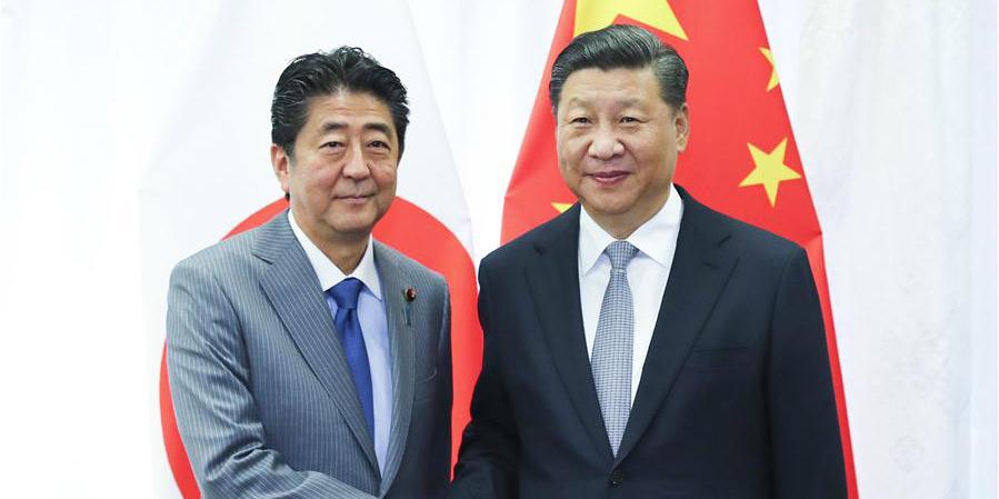 Xi e Abe reúnem-se para aprimorar ainda mais os laços China-Japão