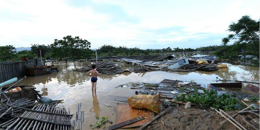 Trabalhos de alívio pós-desastre em andamento na província de Guangdong