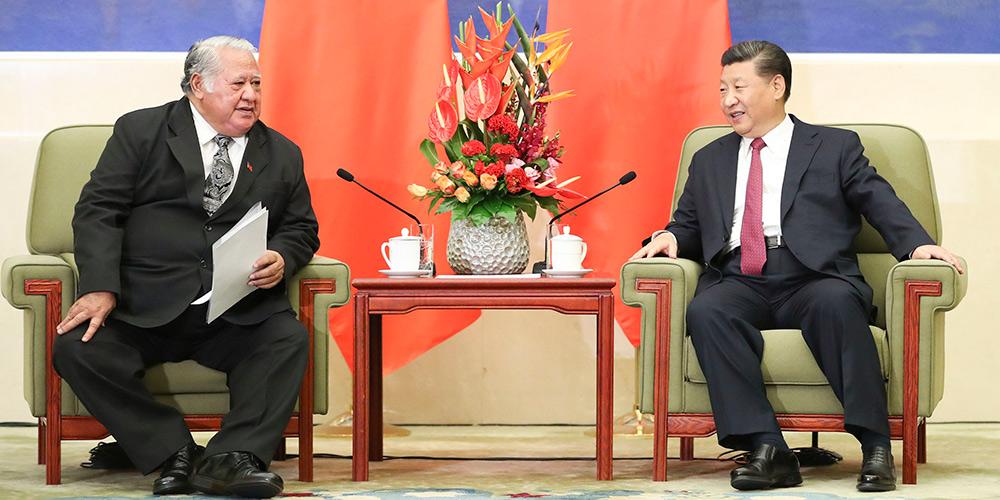 Presidente chinês promete apoio ao desenvolvimento econômico de Samoa