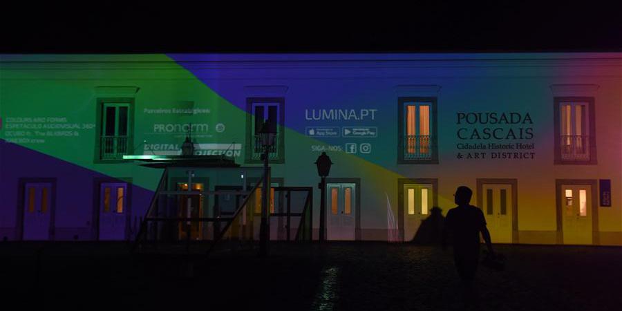 Festival de luzes em Cascais, Portugal