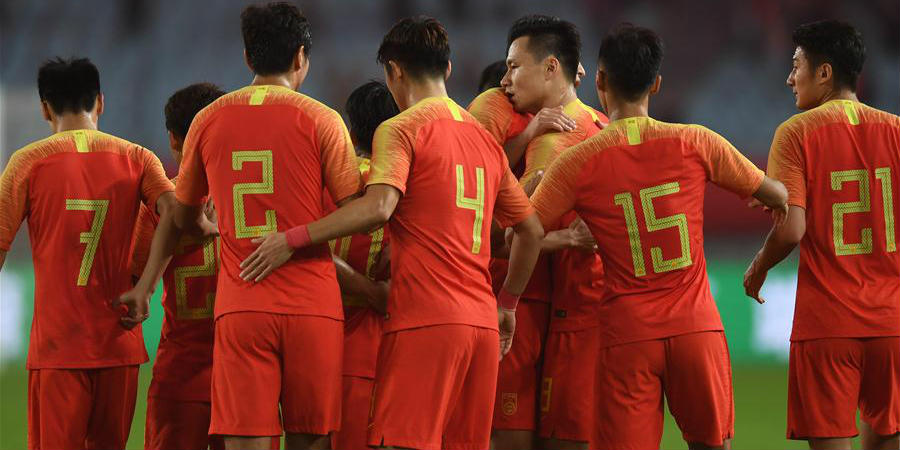 China vence a Síria por 2 a 0 no CFA Team China International Football Match