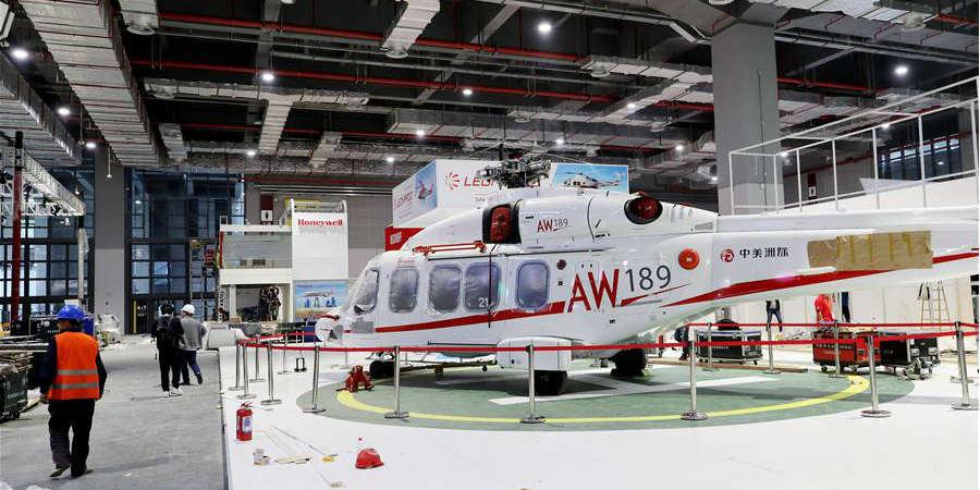 Salas de exposições prontas para a próxima CIIE em Shanghai