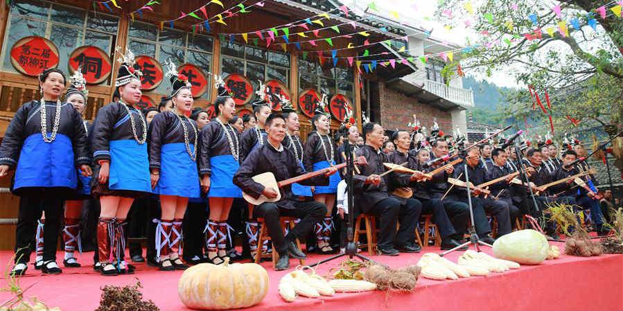 Festival de música do grupo étnico Dong em Guizhou