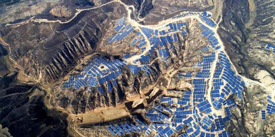 Distrito de Suide em Shaanxi transforma terras improdutivas em usinas fotovoltaicas