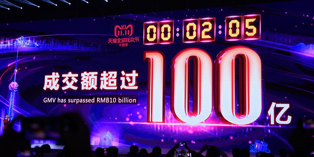 Em 2 minutos, Alibaba vende 10 bilhões de yuans no Dia dos Solteiros