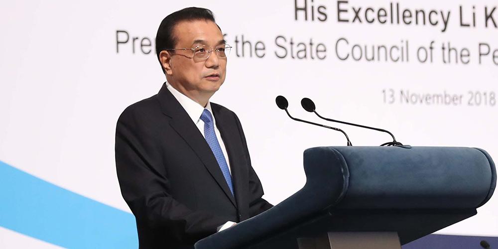 Em Cingapura, premiê chinês defende livre comércio e multilateralismo