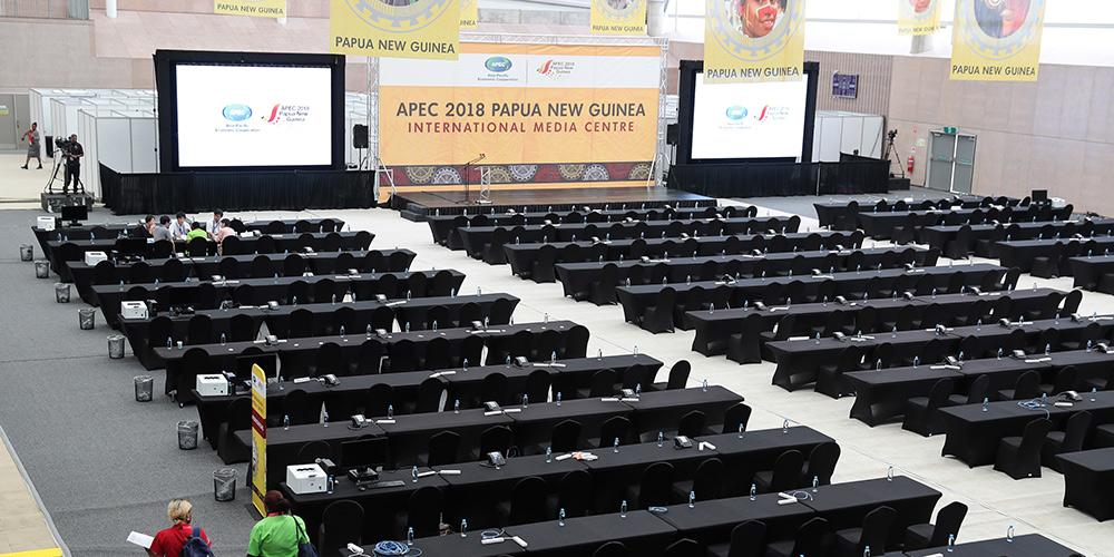 Centro de Mídia Internacional da APEC 2018 entrará em funcionamento em 18 de novembro