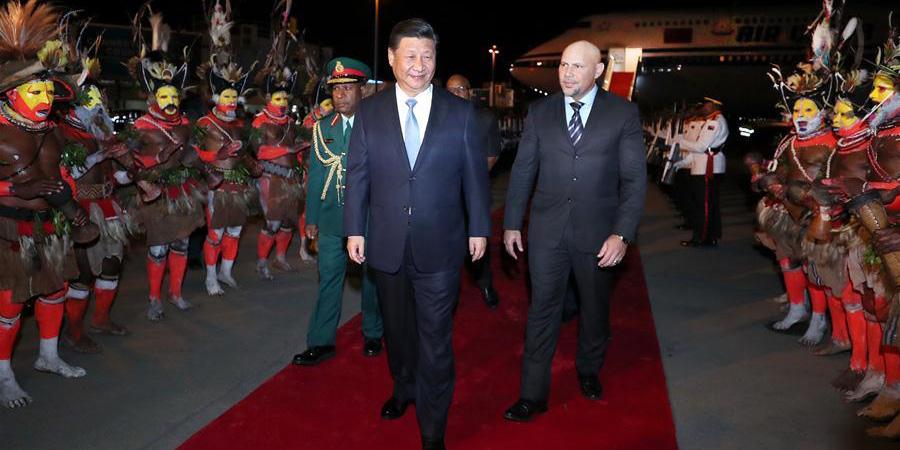 Xi chega a Papua-Nova Guiné para visita de Estado e reunião da APEC