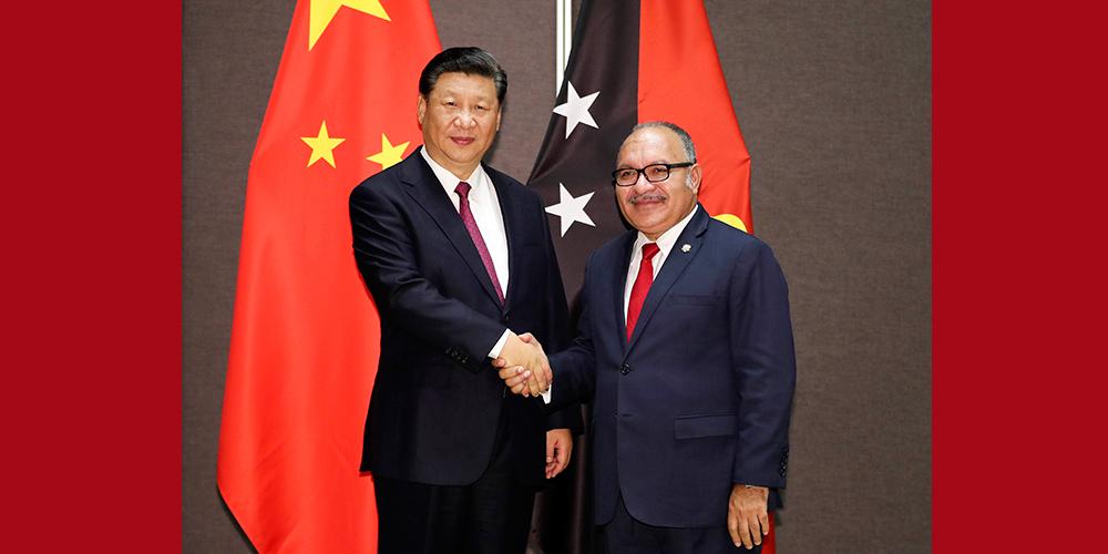 Xi e O'Neill testemunham entrega à Papua-Nova Guiné do Bulevar da Independência que teve assistência chinesa
